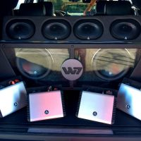 W7 JL Audio installed in trunk Stereo USA Plus