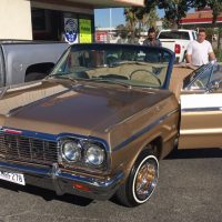 Vintage brown Chevy impala at Stereo USA Plus