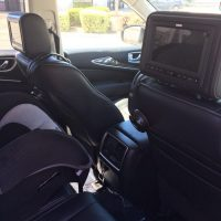 Car TV installed on headrest