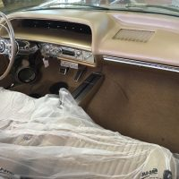 Custom Kicks panels in vintage car