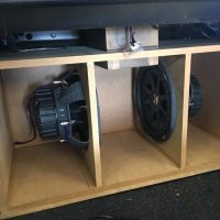 Custom Ported Boxes in Car at Stereo USA Plus