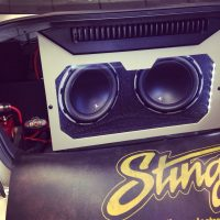 Custom JL Audio installation stereo usa plus