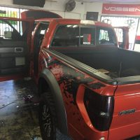 Custom paint on Ford Truck stereo usa plus