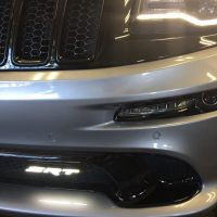 SRT custom logo on grill