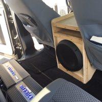 Wooden subwoofer car customization